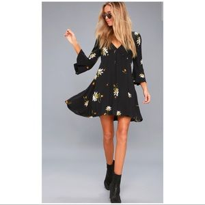 Free People Wrap Mini Dress
